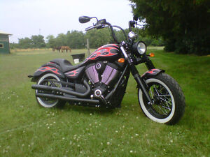 2014 Victory Highball flame edition