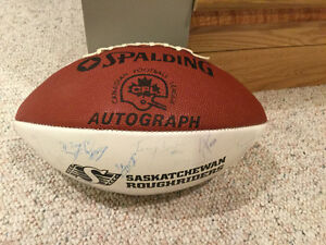 1989 Saskatchewan Roughrider Signed Football