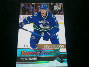 Troy Stecher Young Guns rookie card High Gloss #2 out of 10