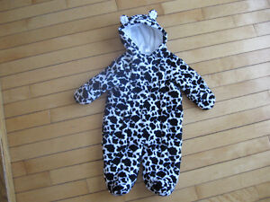 Unisex 3 months super soft snowsuit made bigger with double zip