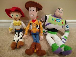 Toy Story lot of 3 Disney Store Plush