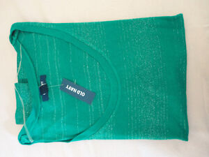 Women Old Navy green silver glitter threading striped top XS NWT London Ontario image 9