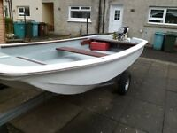 13ft Dory Boat plus Johnson 15HP Outboard Engine