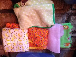 Baby blankets and head rest