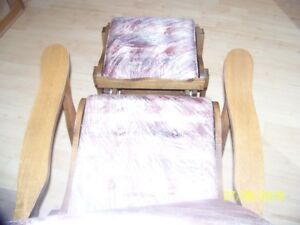Rocker/Recliner Chairs, with foot stool