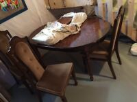 Solid wood DINING ROOM TABLE WITH CHAIRS...