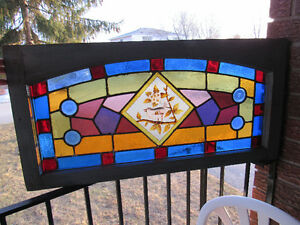 Antique leaded glass window