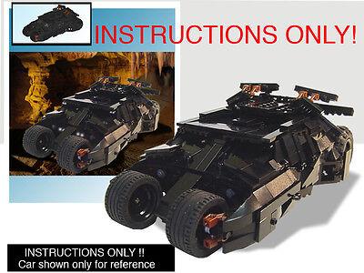 CUSTOM Batman Dark Knight Batmobile Tumbler UCS scale (Lego Instructions ONLY!)