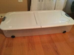 Boîte de rangement pour dessous d'un lit