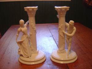 New Low Price!! Franklin Mint Romeo & Juliet Porcelain Candlesti
