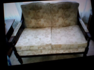 Older Style Couch and Loveseat