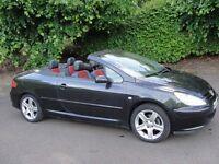 Peugeot 307 2.0 16V COUPE CABRIOLET 138BHP (black) 2005