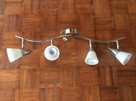4 bar spot light - chrome and glass