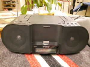 Sony CD boombox with iPod/iPhone dock