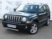 2008 JEEP PATRIOT 2.4 S-LIMITED SERVICE HISTORY BLACK LEATHER SEATS 17 INCH ALLO