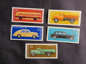 (5) old Trucks & Car Stamps 1976
