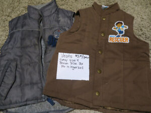 Boys vests size 3x and 4T for sale