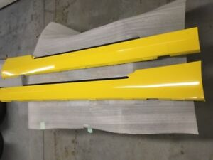 2010 -2015 Chevy Camaro Original Factory Yellow Rocker Panels