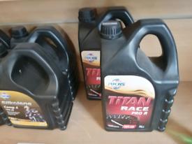 Silkolene race oil. 4 litres. £90