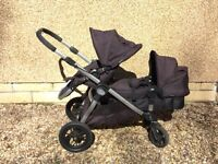 Baby Jogger City Select double Pushchair, With Maxi-Cosi Pebble car seat & Isofix base (RRP £1040)