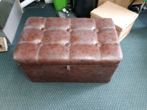 old leather chest from 1976