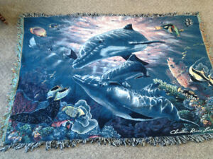 Beautiful Wall Hanging Art Piece-Dolphins