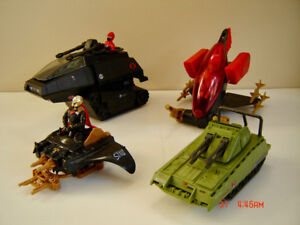Vintage G.I. Joe 1980's Hasbro Action Vehicles with Figures