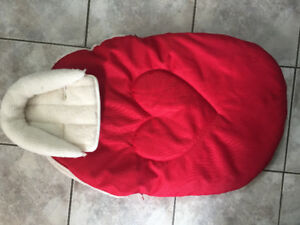 Red jolly jumper cuddle bag for baby bucket car seat / stroller