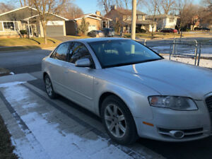 2006 Audi A4 Quattro Turbo - MANUAL 6 speed - Silver, sunroof.