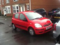 toyota yaris T3 998cc 5dr in red 77k mileage look