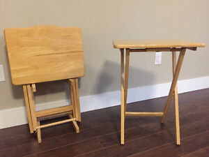 5 Piece Wooden TV Table Set