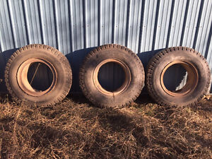 4--10.00-20 & 1--11.00-20 Truck Tires with Rims