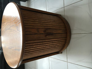 """Oak end table - 23"""" tall and 23 wide"""