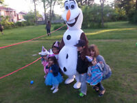 ELSA ANNA AND OLAF ARE HERE MASCOT PARTY!!