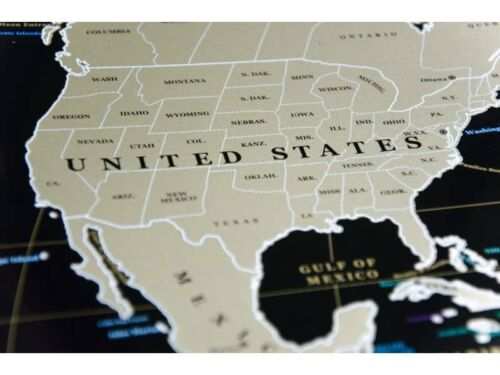 Premium gift gold black scratch off worldrsonal large travel map the ultra detailed scratchable foil map of the world in english in black gold style cardinally differs from all analogs it is printed on dense laminated gumiabroncs Images