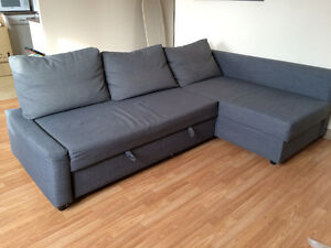 Large couch in good condition. Turns into double bed