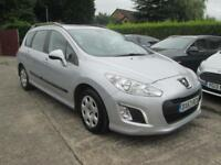 2013 63 Peugeot 308 SW 1.6 HDi Access Silver