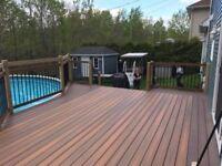 Construction patio deck terrasse en composite