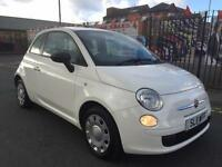 FIAT 500 1.2 POP 1.2 3DR 2011 WHITE ***1 LADY OWNER ***RED/CREAM HALF LEATHER