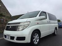 2004 NISSAN ELGRAND 3.5 V6 LPG/GAS WHITE