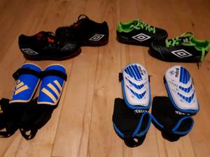 Souliers de soccer et protège tibia