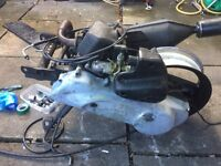 Peugeot speedfight 2 50cc engine and wheel and exhaust *does run read description* moped scooter