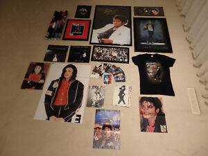HUGE lot of Michael Jackson memorabilia:Posters/Shirt/Calendar..