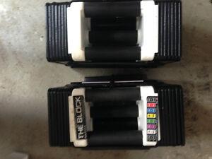 Power block dumbell set