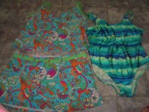 Women's Bathing Suits, Size 16, 1 pc and 2 pc, Good Clean Cond.