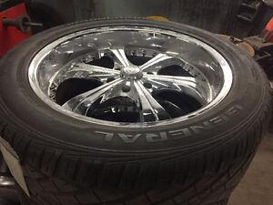 Mags and tires/ Rims Et Pneu 305 45 22
