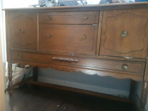 Antique all wood hutch