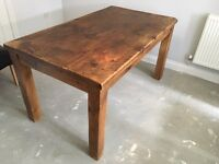 Rustic solid wood chunky dining table