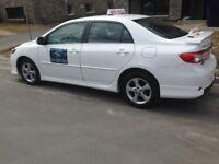 Cours de conduite pratique + location voiture pour examen SAAQ