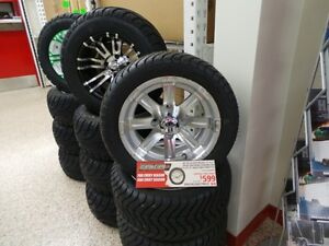 GOLF CART 12INCH LOW PROFILE WHEEL AND TIRE PACKAGE Belleville Belleville Area image 1